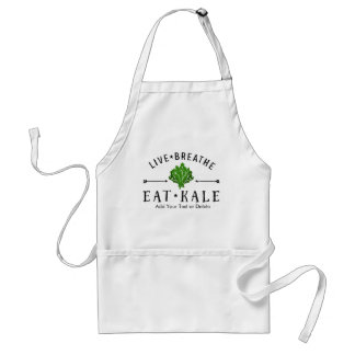 Kale Vegetarian Live Breathe Eat Kale Custom Standard Apron