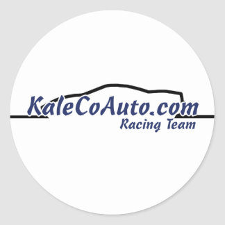 KaleCoAuto Racing Team! Classic Round Sticker