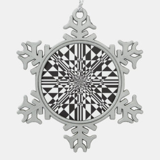 Kaleida Snowflake Pewter Christmas Ornament