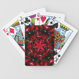 kaleido  flower green and red design bicycle playing cards