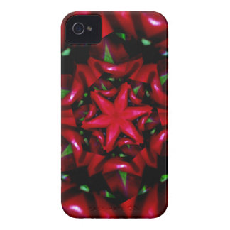 kaleido  flower green and red design iPhone 4 Case-Mate case