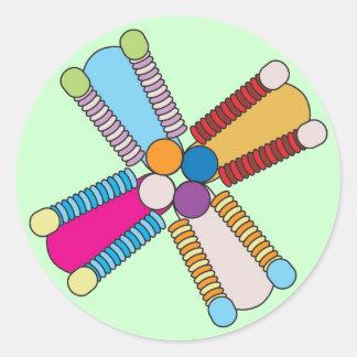 kaleidoflower multi classic round sticker