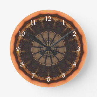 Kaleidoscope 1 round clock