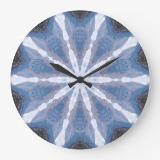 Kaleidoscope Abstracted Large Clock