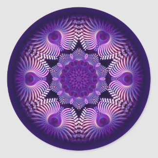 Kaleidoscope Apophysis Flower I Classic Round Sticker