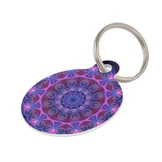 Kaleidoscope Apophysis Mandala Hearts Pet Tag