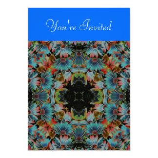 Kaleidoscope Art Psychedelic Daisies Invitation