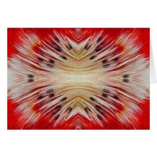 Kaleidoscope Bearded Barbet design Card