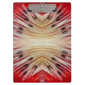 Kaleidoscope Bearded Barbet design Clipboard
