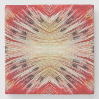Kaleidoscope Bearded Barbet design Stone Beverage Coaster