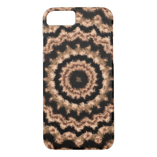 Kaleidoscope Beige Circular Pattern iPhone Case