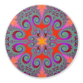 Kaleidoscope Bloom Ceramic Knob