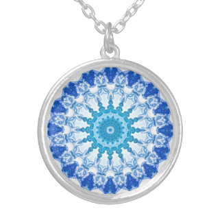 Kaleidoscope Blue Ice Silver Plated Necklace