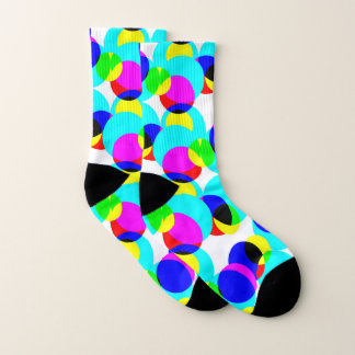 Kaleidoscope Bright Design Cozy Socks