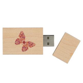 Kaleidoscope Butterfly Flash Drive Wood USB 2.0 Flash Drive