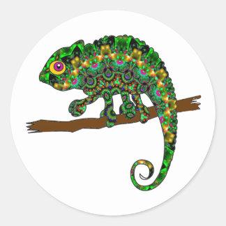 Kaleidoscope Chameleon Stickers