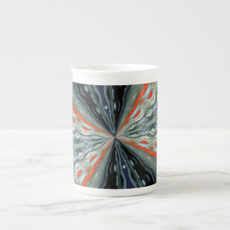 Kaleidoscope, colorful, abstract, grey pattern tea cup