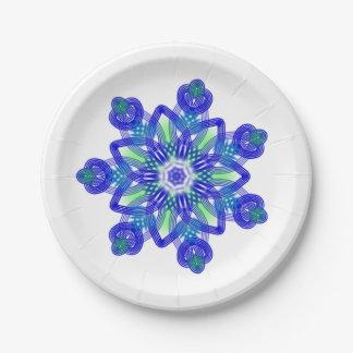 Kaleidoscope conflower star 7 inch paper plate