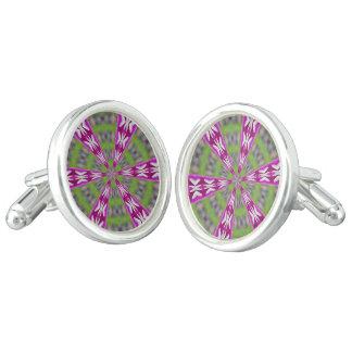 Kaleidoscope Dahlia Cuff Links