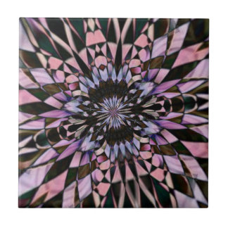kaleidoscope daisy in pink tile