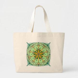Kaleidoscope deer large tote bag