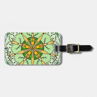Kaleidoscope deer luggage tag