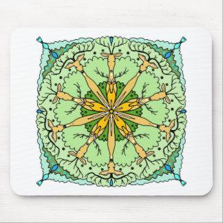Kaleidoscope deer mouse pad