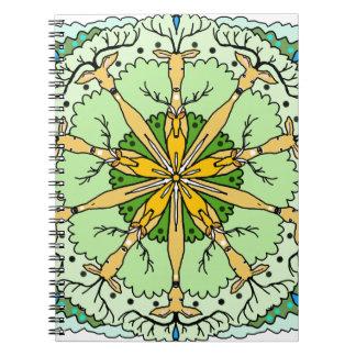 Kaleidoscope deer notebooks