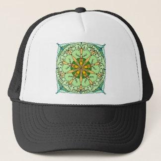 Kaleidoscope deer trucker hat