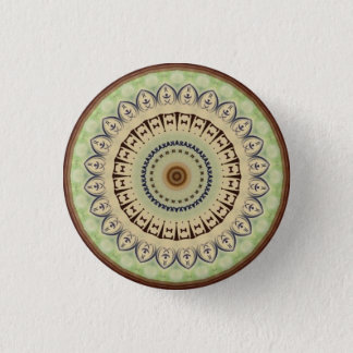 Kaleidoscope Design 1 Inch Round Button