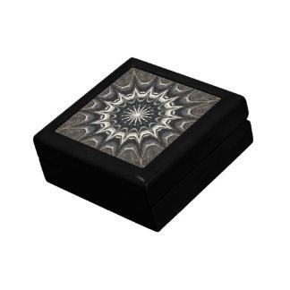Kaleidoscope Design Black Gray Blue White Art Gift Box