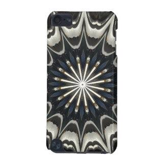 Kaleidoscope Design Black Gray Blue White Art iPod Touch (5th Generation) Cover