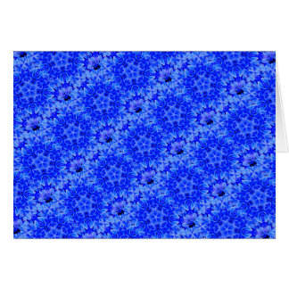 Kaleidoscope Design Blue Purple Floral Art Card