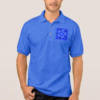 Kaleidoscope Design Blue Purple Floral Art Polo Shirt
