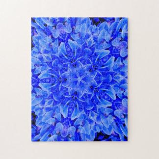 Kaleidoscope Design Blue Purple Floral Art Puzzles
