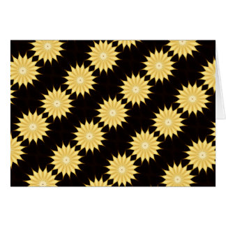 Kaleidoscope Design Bright Yellow Star Card