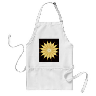 Kaleidoscope Design Bright Yellow Star Standard Apron