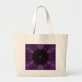 Kaleidoscope Design Chic Elegant Shiny Purple Large Tote Bag