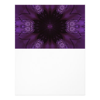 Kaleidoscope Design Chic Elegant Shiny Purple Letterhead