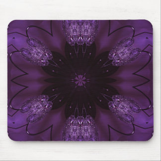 Kaleidoscope Design Chic Elegant Shiny Purple Mouse Pad