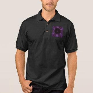Kaleidoscope Design Chic Elegant Shiny Purple Polo Shirt