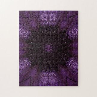 Kaleidoscope Design Chic Elegant Shiny Purple Puzzle