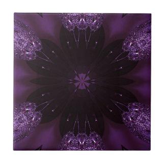 Kaleidoscope Design Chic Elegant Shiny Purple Tile