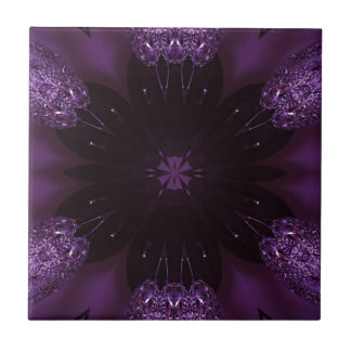 Kaleidoscope Design Chic Elegant Shiny Purple Tiles