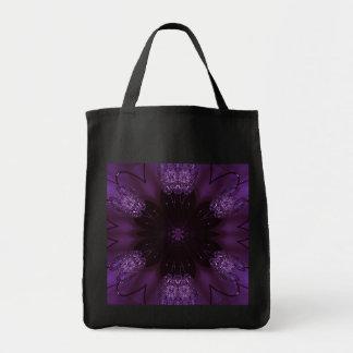 Kaleidoscope Design Chic Elegant Shiny Purple Tote Bag