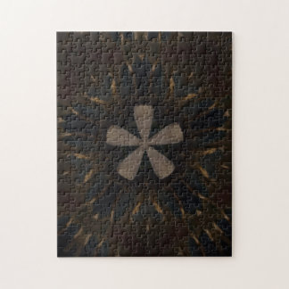 Kaleidoscope Design Dark Brown Rustic Art Puzzle