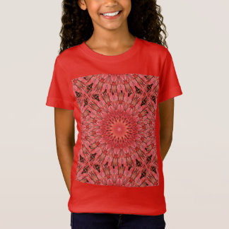 Kaleidoscope Design Floral Red T-Shirt
