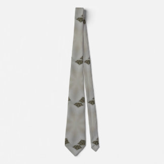 Kaleidoscope Design Flower Soft White Tie