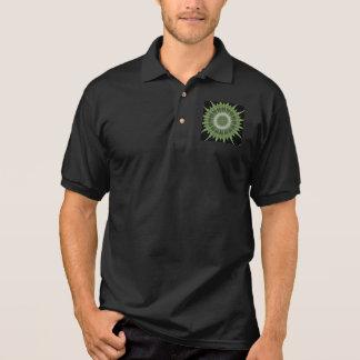 Kaleidoscope Design Green Black Polo Shirt