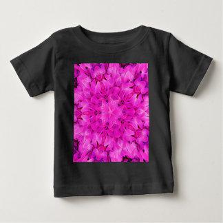 Kaleidoscope Design Hot Pink Floral Art Baby T-Shirt
